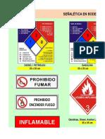 Señalética Bodega de Combustible Lubricantes y Residuos
