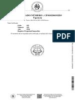 Certificado Vigencia