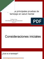 Explicar Las Principales Pruebas de Tamizaje en Salud Mental