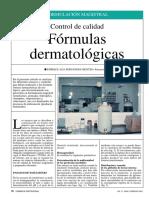 Control de Calidad Formulas Dermatologicas