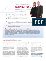 Career in Banking Brochure