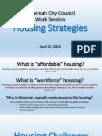 Savannah affordable housing presentation