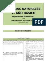 PLANES Y PROGRAMAS 1 BÁSICO CIENCIAS
