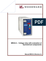 MDR3-2 Voltage relay with evaluation of  Symmetrical components