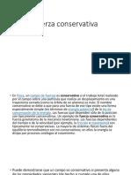 Fuerza Conservativa