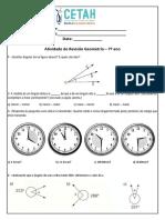 Atividade Revisao Geometria 7 Ano 1 Trimestre
