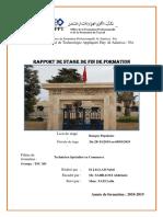 Rapport de Stage Banque Populaire Fès