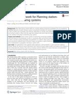 A Spatial Framework for Planning Stationbased