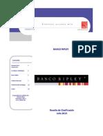 Banco Ripley - Reseña Anual de Clasificación - Julio 2015