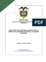 Informe Neotectonica Piedemonte Estandarizado Final Oct 15