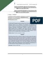 Análisis multicriterio de afectación agrícola en las provincias del sur occidente del departamento de Cundinamarca por el fenómeno El NIÑO en los años 2010 2015