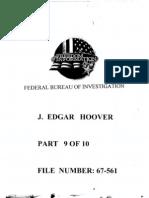 FBI Dossier of J. Edgar Hoover (FOIA Declassified), Part 9