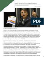 Revista Fórum - A Perversão No Imaginário Sexual Do Universo Bolsonariano