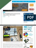 RS485 ModBus Serial Communication Using Arduino Uno as Slave