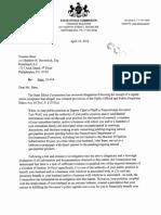 Ethics Commission Letter Re Yesenia Bane