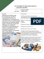 Análisis Normativo Del Régimen de Exportaciones Menores y Operaciones Especiales