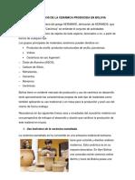 Aplicaciones y Usos de La Cerámica Producida en Bolivia