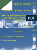 Módulo V Control de Lectura 2