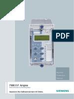 7SR157 Argus Catalogue Sheet