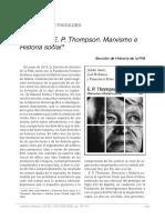 Marxismo e Historia Social Thompson