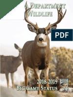 Nevada Department of Wildlife - 2018-2019 Big Game Status Book