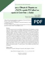 YIDA, Vanessa; GHOLMIE, Myriam R. S.; VASCONCELOS, Celciane A. Estratégias para obtenção de respostas nos inquéritos do ALiB