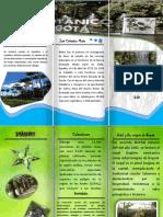 folleto jardin botanico