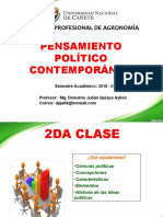 2da Clase de Pensamiento Politico Contemporaneo