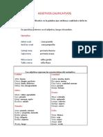 Adjetivos Calificativos Quechua
