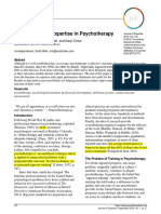 Eficacia en Psicoterapia