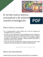 2 El Rol Del Marco Te Rico-conceptual y de Antecedentes
