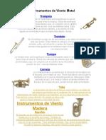 Instrumentos de Viento Metal.docx