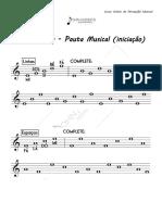 Pentagrama - Pauta Musical (Iniciante)