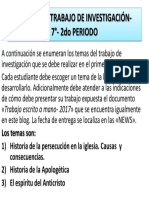 TEMAS DE INFORME DE INVESTIGACIÓN- 7°- 2do PERIODO 2019