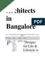 Architects in Bangalore.docx