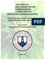 Effects of Marijuana Legalization on Campus Safety (NCCPS) (September 2016)