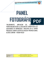 Panel Fotografico Tangor