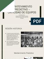 MANTENIMIENTO PREDICTIVO – CRITICIDAD DE EQUIPOS.pptx