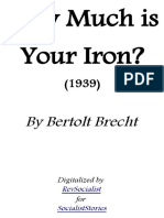 How Much is Your Iron by Bertolt Brecht