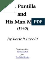 Mr Puntilla and His Man Matti by Bertolt Brecht