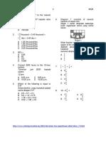 Matematik kertas 1 Tahun5