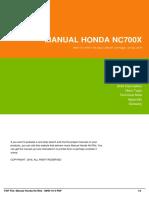 Manual Honda Nc700x