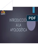 Clase No. 1 Instroduccion a La Apologetica