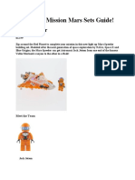 Laser Pegs Mission Mars! 2019 Sets Guide!