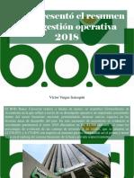 Víctor Vargas Irausquín - BOD Presentó El Resumen de Su Gestión Operativa 2018