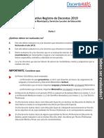 Informativo Registro Docente 2019