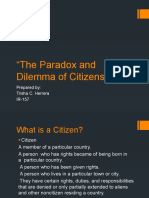 The Paradox and Dilemma of Citizenship
