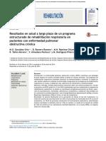 Resultados en Salud a Largo Plazo de Un Programa Estructurado de Rehabilitación Respiratoria en Pacientes Con Enfermedad Pulmona