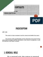 Rescissible Contracts PRESCRIPTION
