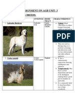 Different breeds of sporting and nonsporting dog breeds